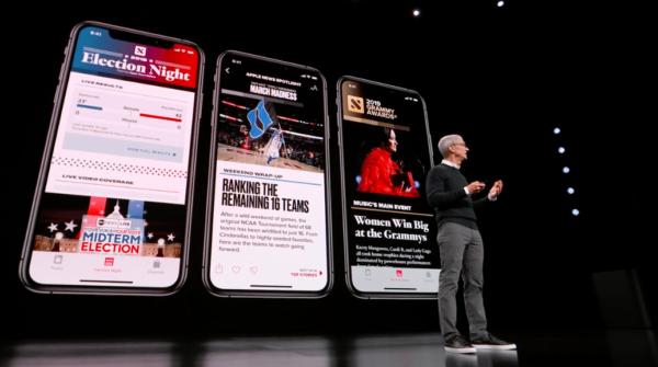 apple news on iphone 600x335 - Apple News+ si v prvních 48 hodinách po spuštění předplatilo přes 200 000 lidí