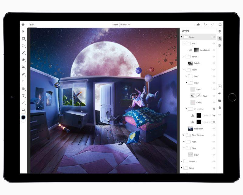 Adobe Max iPad Pro PS CC 10152018 800x643 - Adobe už testuje Photoshop CC pre iPad, zatiaľ len na pozvánku