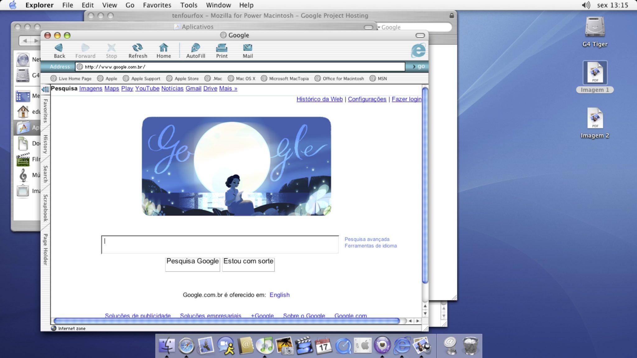 Internet Explorer bežiaci na Mac OS X Panther. Zdroj: timmerman.wordpress.com