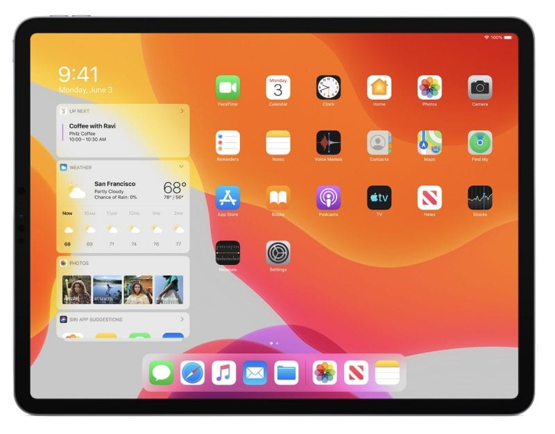 ipadOS home screen 800x626 - Apple vydal štvrtú beta verziu iOS 13 a iPadOS