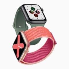 Apple watch series 5 gold aluminum case pomegranate band and space gray aluminum case pine green band 091019 240x240 - Displej v nových Apple Watch Series 5 sa už nebude vypínať