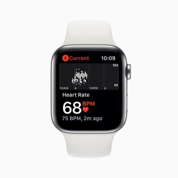 Apple watch series 5 heart rate screen 091019 600x600 - Apple plánuje 3 inovatívne zdravotné štúdie