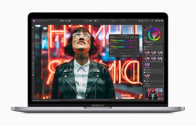 13-palcovy MacBook Pro 2020 Affinity Photo