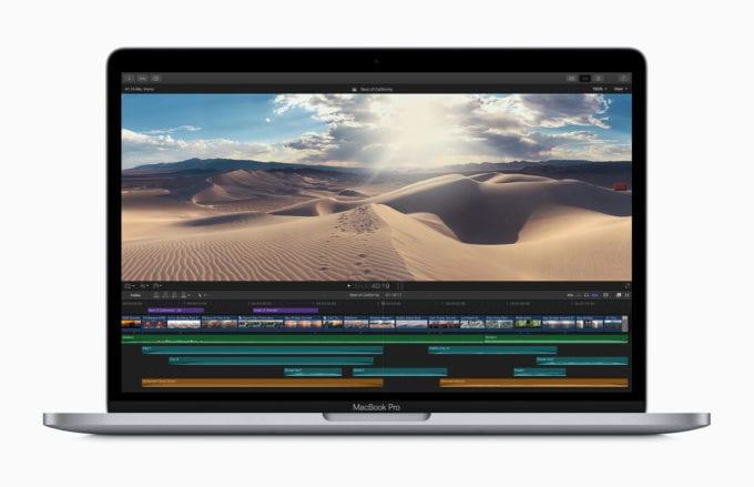 13-palcovy MacBook Pro 2020 Final Cut Pro