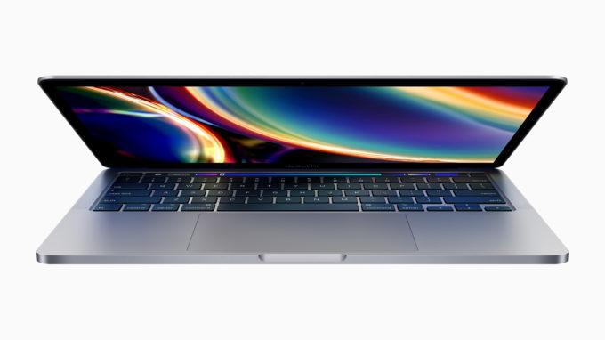 13-palcovy MacBook Pro 2020 vyklapaci