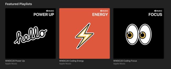 Apple Music WWDC20 Playlisty
