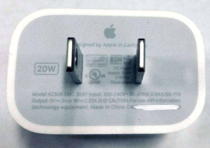 iPhone 12 20W Charger Mr White