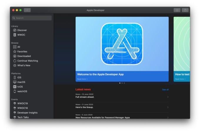 macOS Apple Developer App