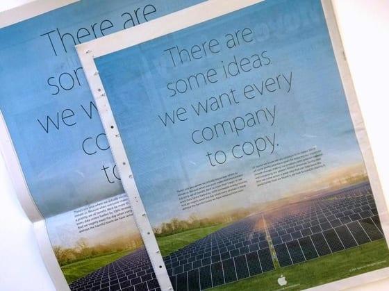 Apple si uťahuje z imitovania Samsungu v novej tlačenej reklame ... c26eb5ff8fe