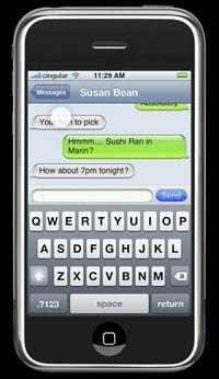 iphone final textmessaging - Apple musel klamať, aby bola prezentácia iPhone dokonalá
