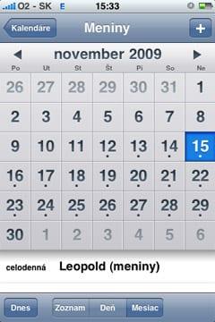 slovensky kalendar Tip: slovenský meninový kalendár v iPhone – MacBlog.sk slovensky kalendar