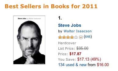 Zivotopis Steve Jobs Je Na Amazone Najpredavanejsou Knihou Roku 2011