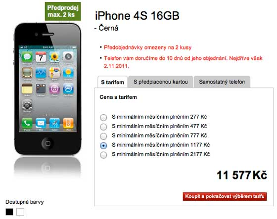 vodafone-iphone4s-16gb-czk