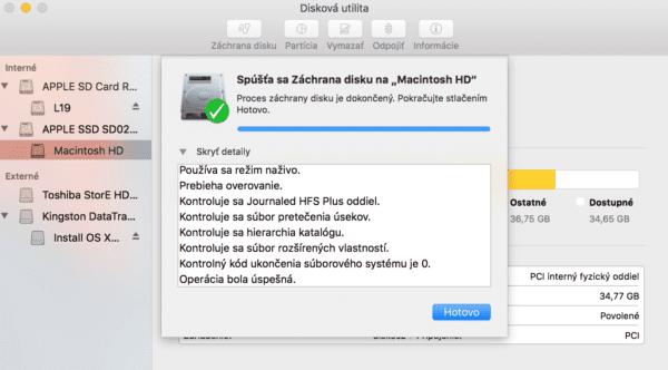 disk utility zachrana disku