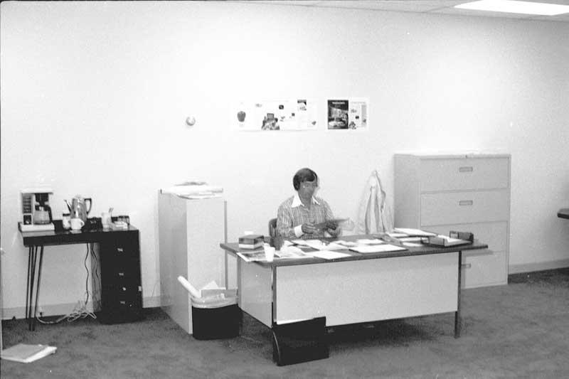 Mike Markkula v kancelárii Apple (1977)