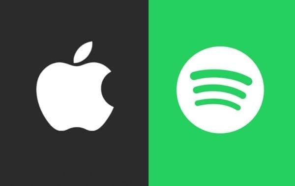 """apple music spotify 600x380 - Apple reaguje na sťažnosti Spotify: """"Šíria klebety a polopravdy."""""""