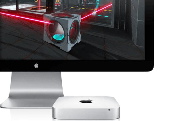 Mac mini and Portal 2 600x408 - Tim Cook: Mac Mini je dôležitou súčasťou nášho pripravovaného lineupu