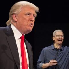 Trump Cook 240x240 - Apple hodlá investovat spousty miliard $ v USA