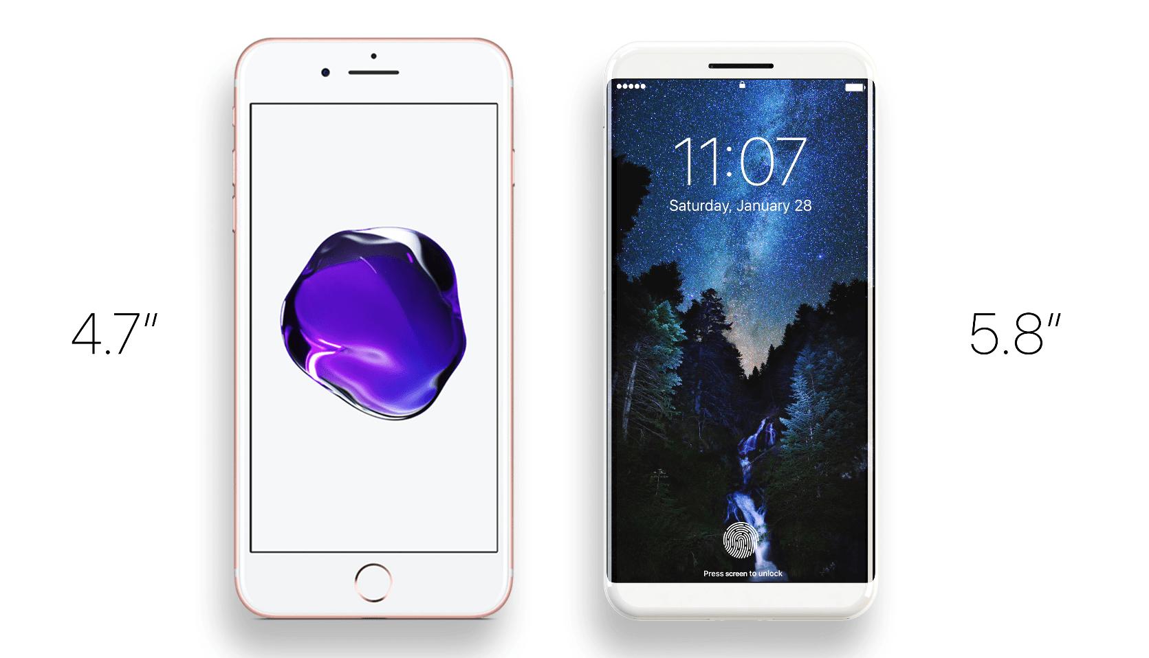 Úhlopříčky - iPhone 8: Co všechno přinese co se týče designu?