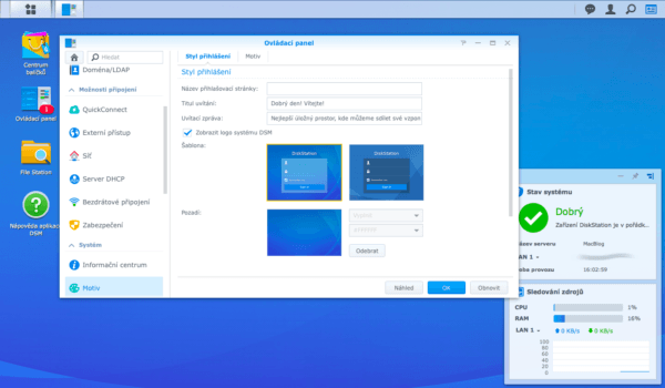 Synology DiskStation Manager Customization