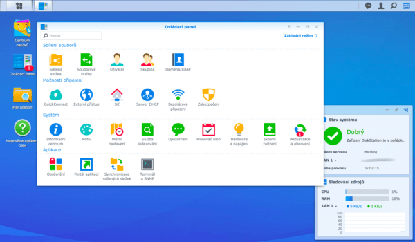 Synology DiskStation Manager Settings