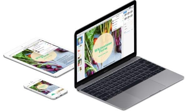 iwork pages mac ios devices 600x353 - iMovie, GarageBand a sada iWork pre Mac a iOS sú odteraz zadarmo pre všetkých