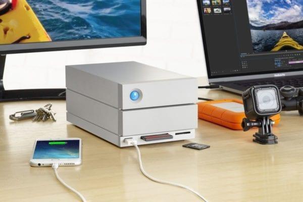 lacie 2big thunderbolt3 desk 600x400 - LaCie predstavil novú generáciu 2big docku s Thunderbolt 3