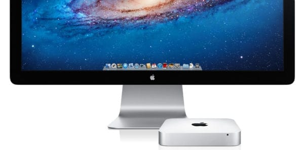 mac mini and thunderbolt display 600x297 - Ming-Chi Kuo očakáva nový Mac mini, 45mm Apple Watch a nový MacBook