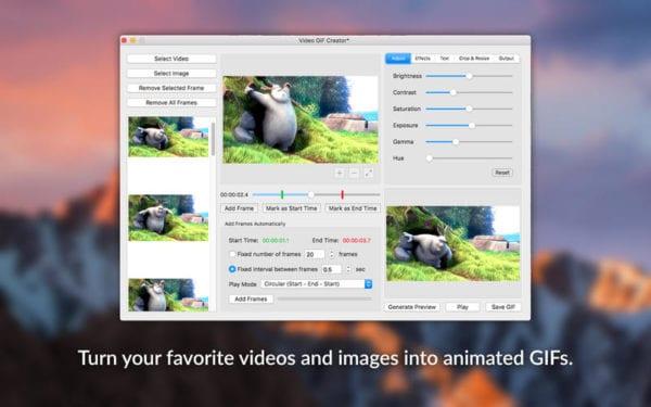 Video GIF Creator 600x375 - Zlacnené aplikácie pre iPhone/iPad a Mac #20 týždeň