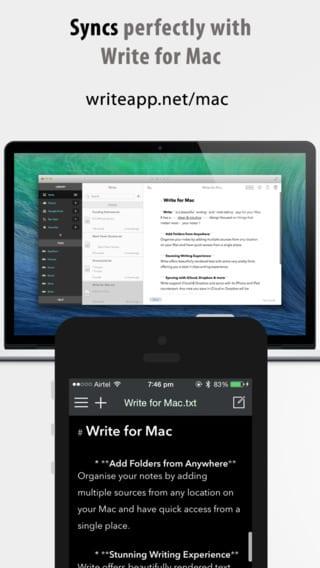 Write for iPhone - Zlacnené aplikácie pre iPhone/iPad a Mac #19 týždeň