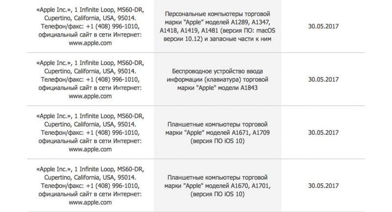 apple new products june 2017 800x434 - Apple si práve registroval nové MacBooky a iPady