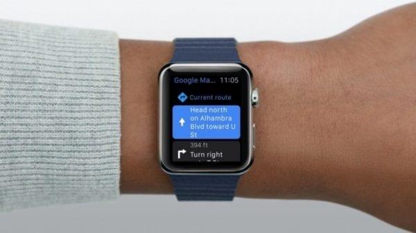 apple watch google maps wrist 600x336 - Google, Amazon a ďalší potichu zrušili podporu pre Apple Watch