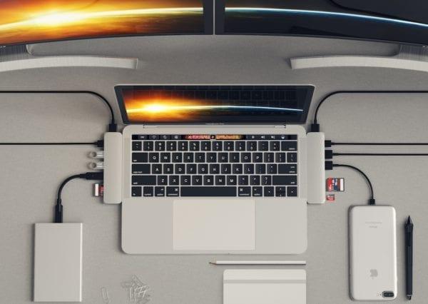 satechi hub 1 600x426 - Satechi predstavil nový Thunderbolt 3 hub pre MacBook Pro