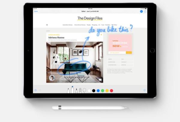 iOS 11 iPad Drawing