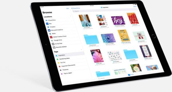 iOS 11 iPad Files App