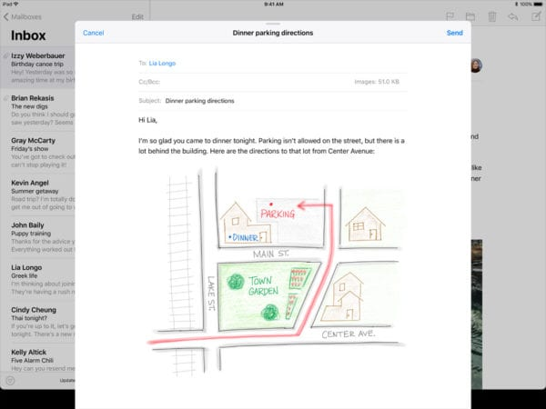 iOS 11 Inline Drawing