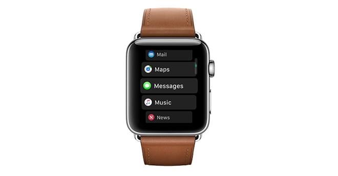 watchOS 4 List View - watchOS získal menšiu aktualizáciu na verziu 4.2.3