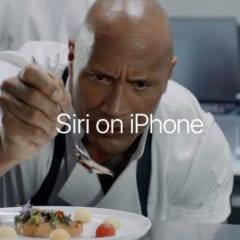 Siri on iPhone  240x240 - Apple zveřejnil dvě nová videa The Rock x Siri