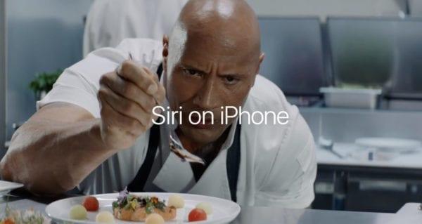 Siri on iPhone  600x319 - Apple zveřejnil dvě nová videa The Rock x Siri