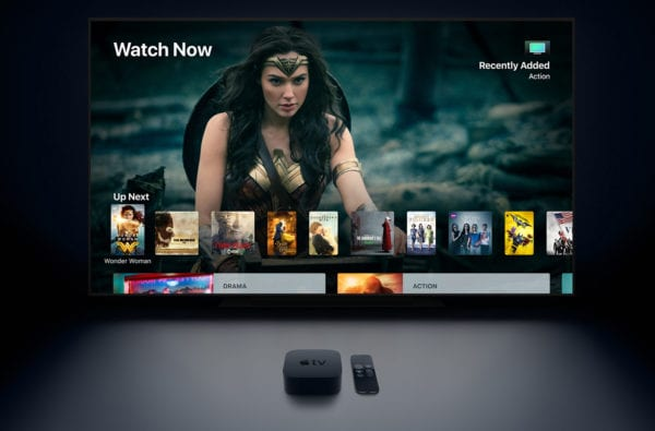 4k screen and appletv 600x395 - Vyšli nové updaty pre Apple TV a Watch – tvOS 11.3, watchOS 4.3