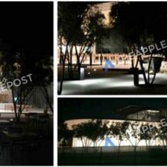 Návštěvnické centrum Apple Park 240x240 - Návštěvnické centrum v novém Apple Parku je podle nových fotek už skoro dokončené