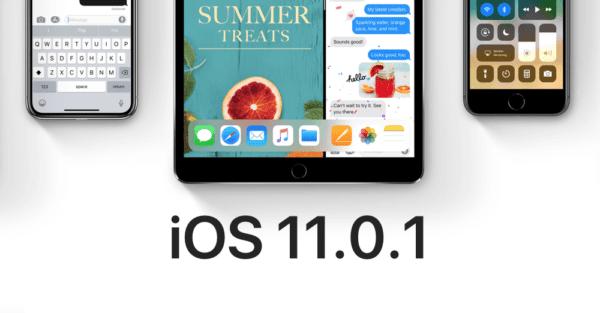 iOS 11.0.1 Download main 600x313 - Apple vydal aktualizáciu iOS 11.0.1