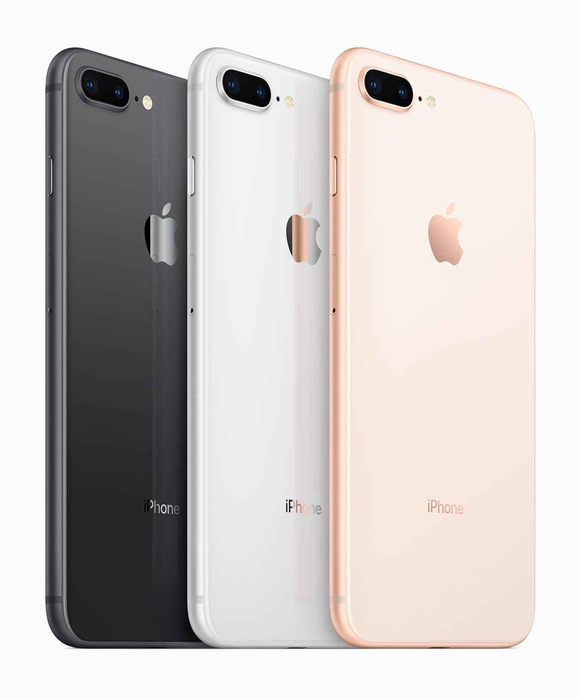 iPhone8Plus color selection - iPhone 8 a iPhone 8 Plus prinášajú nový dizajn, rýchlejšie procesory a bezdrôtové nabíjanie