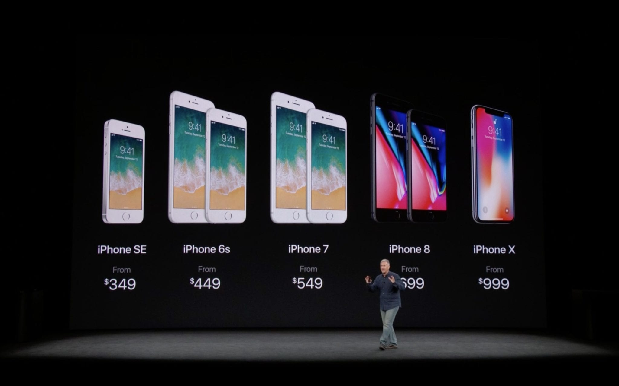 iphone lineup 2017 apple event - iPhone X vs. iPhone 8 – porovnanie a ceny u nás