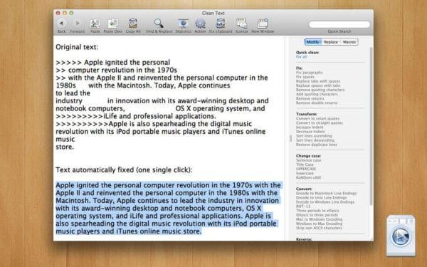 Clean Text 600x375 - Zlacnené aplikácie pre iPhone/iPad a Mac #43 týždeň