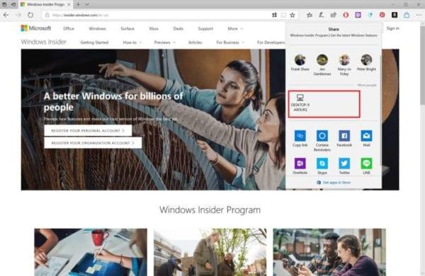 Windows 10 Near Share AirDrop