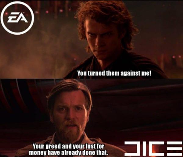 Battlefront 2 DICE vs EA 600x513 - Apple reaguje na jednu z najväčších káuz herného priemyslu a mení pravidlá hry v App Store