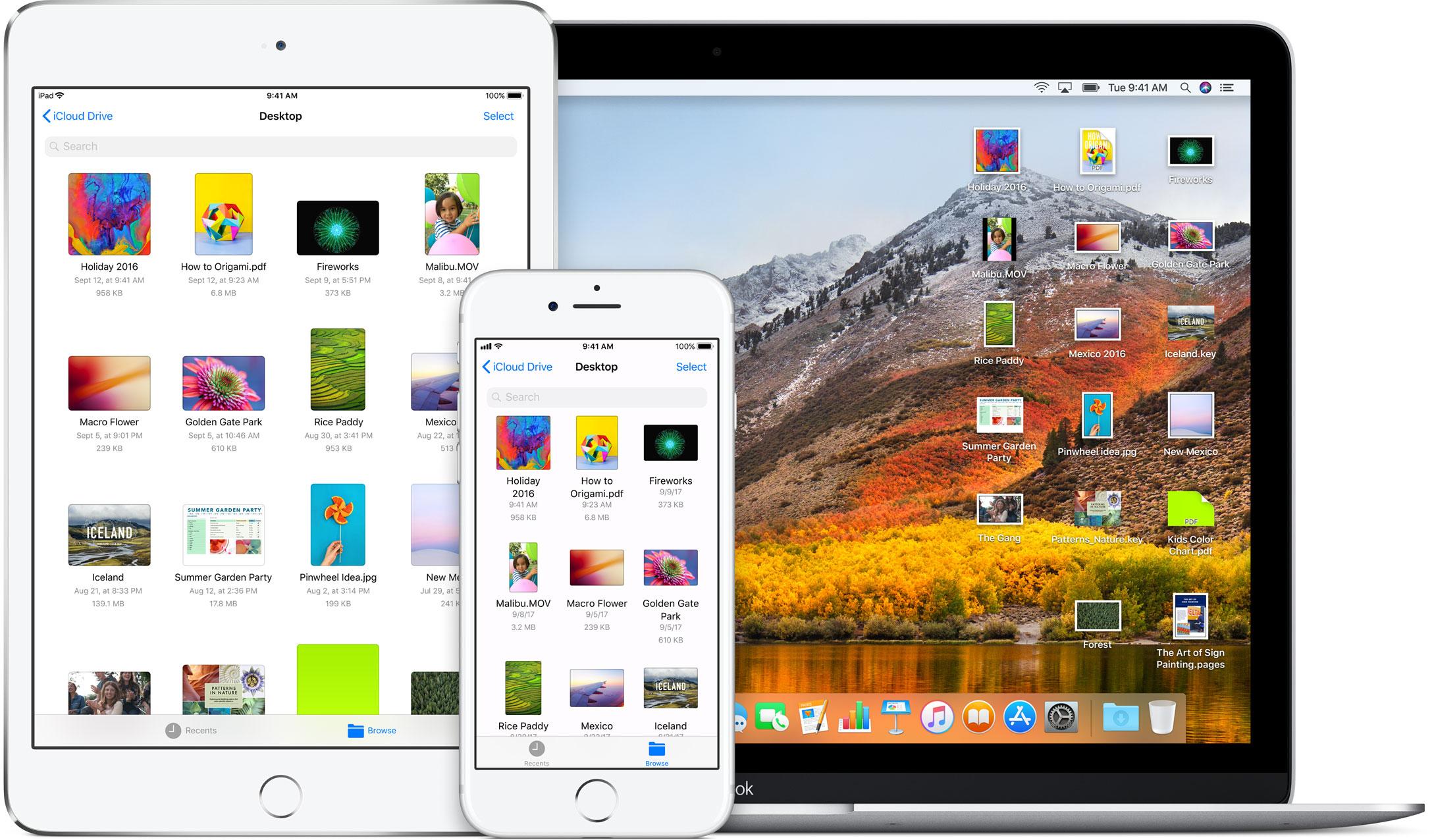 icloud drive ios 11 macos high sierra devices iphone ipad macbook - Novinky za uplynulý týždeň: update pre iOS, detaily o HomePode, nové iPhony a ďalšie...