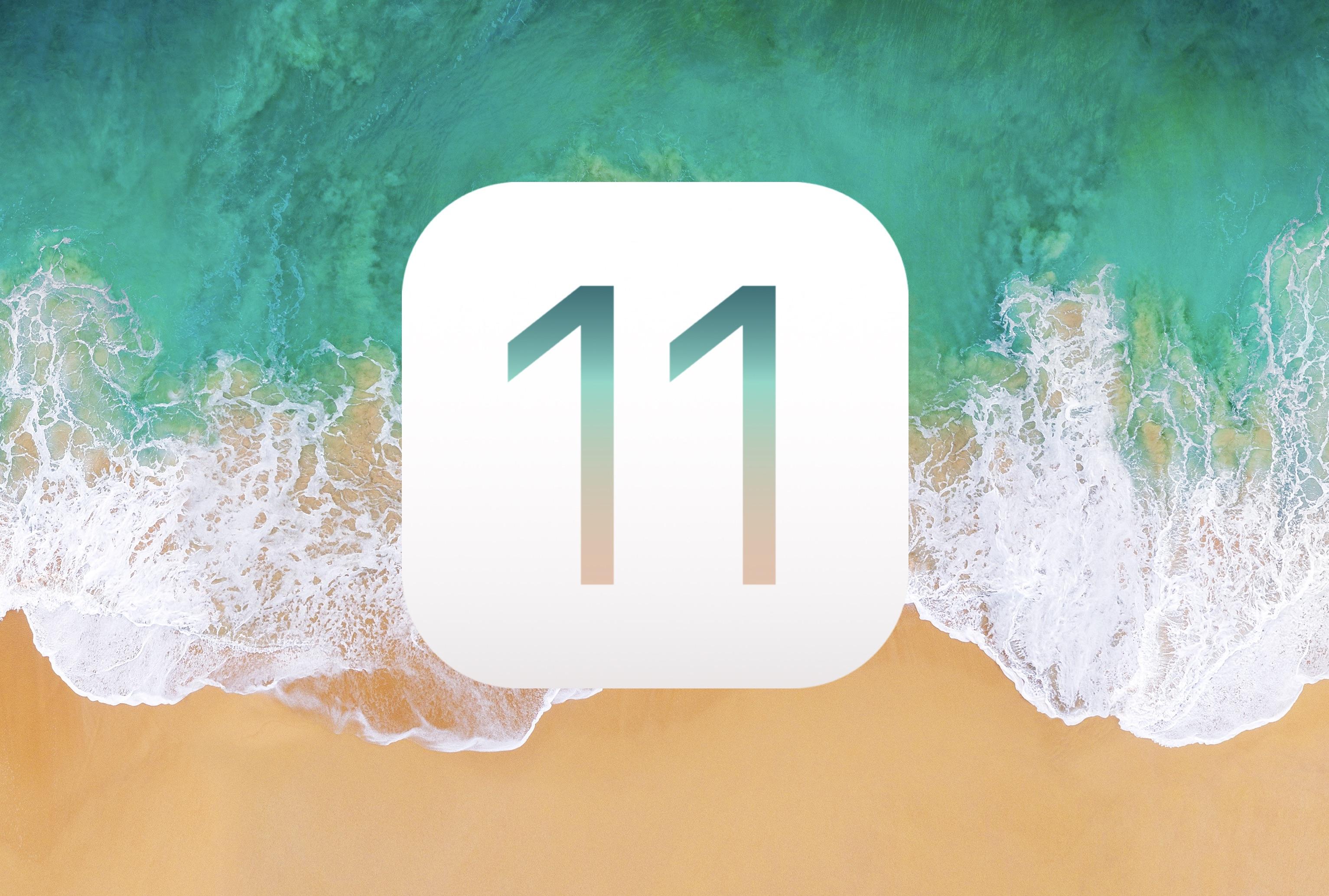 ios 11 logo beach - Apple prestal podpisovať iOS 11.2.5