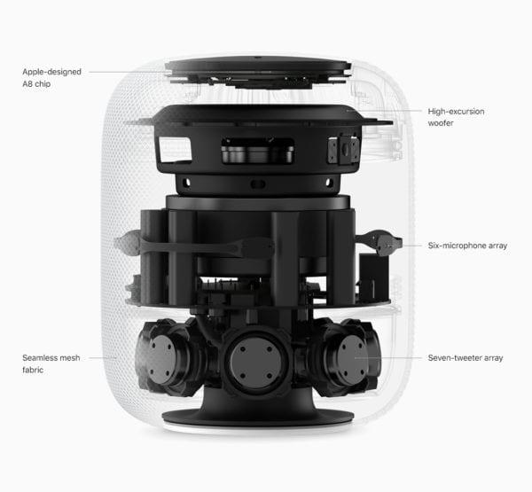 HomePod Availability internal parts 012218 600x555 - Tim Cook popsal, čim se nový Apple HomePod odlišuje od ostatních chytrých reproduktorů